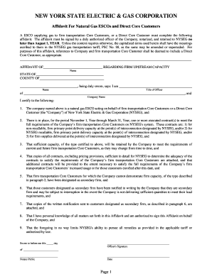Fillable affidavit of authority to sign for a company