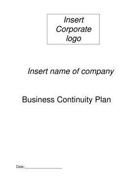 Insert Corporate logo Insert name of company Business Continuity Plan Date: Introduction Distribution List Copy Number Name Location 001 002 003 004 005 006 Approved by - shepway gov
