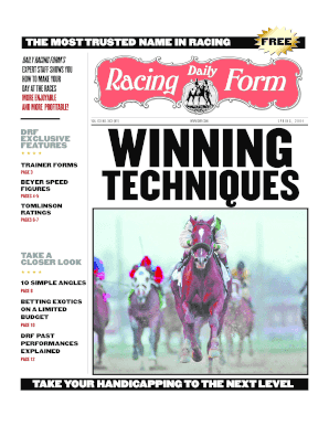 Fillable Online Winning Techniques - Daily Racing Form Americas Turf ...