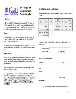 81134699 Order A Census Form on free blank,