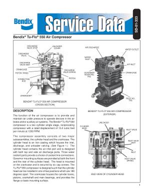 Fillable Online SD-01-333 Bendix Tu-Flo 550 Air Compressor Fax Email