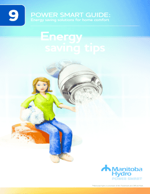 Power Smart Guide Energy saving tips - Manitoba Hydro - hydro mb