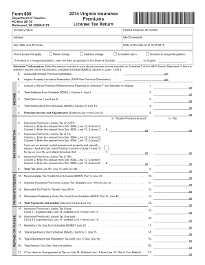 Fillable Online tax virginia Form 800 Department of ...
