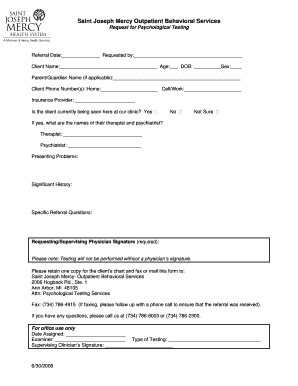 24 Printable psychological assessment pdf Forms and