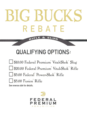 Fillable Online Rebate Coupon Federal Premium Ammunition Fax Email Print Pdffiller
