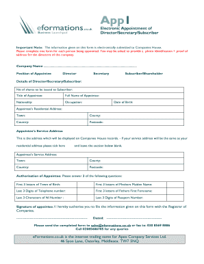 appointment form template html edit print fill out download