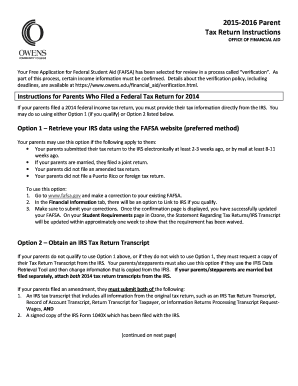 Printable tax transcript sample 2015 - Fill Out & Download