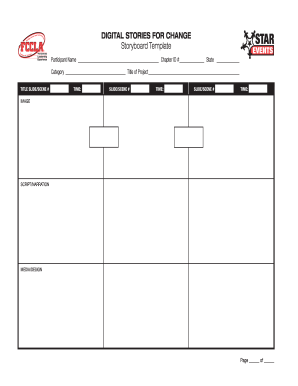 DIGITAL STORIES FOR CHANGE Storyboard Template - fccla
