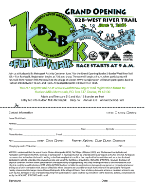 B2B West River 10K Run Flyer - Washtenaw County