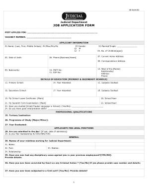 Judicial Vacancy Fiji Western - Fill Online, Printable