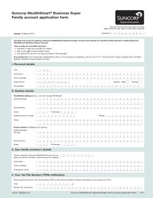 Blicationb Form Family Account Suncorp