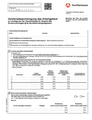 Verdienstbescheinigung Muster Ausgefullt Fill Online Printable
