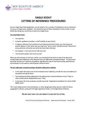 Fillable online ktc bsa eagle scout reference letter procedures rev fill online expocarfo Choice Image