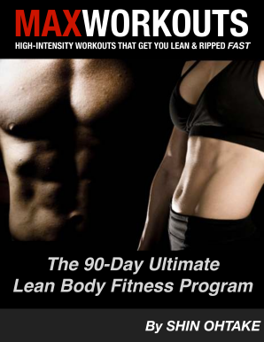 max workouts the 90 day ultimate lean body fitness program form