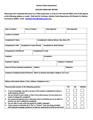 117 Printable Blank Police Report Template Forms - Fillable Samples