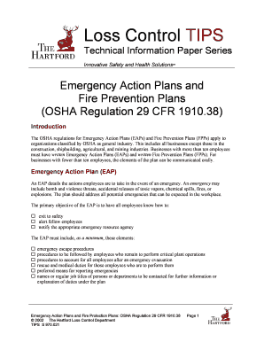 Emergency Action Plans and Fill Online, Printable, Fillable