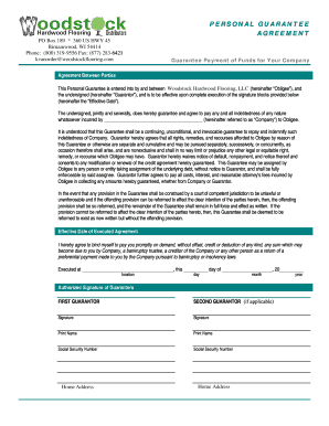 Personal Guarantee Form 2003Feb Corp Aprvl Robert PaynePDF