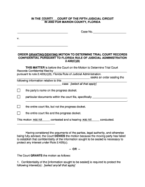 how to file a motion in florida court - Fillable Form & Document