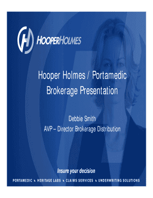 Hooper Holmes PowerPoint Template - E-Z Data Inc