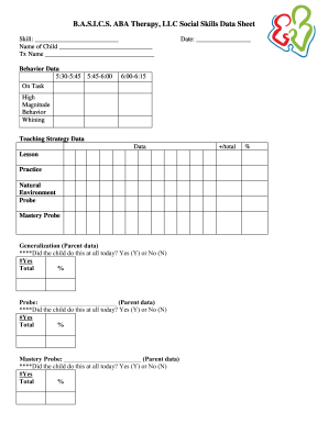 Editable free aba data sheets fill out print download for Aba program template
