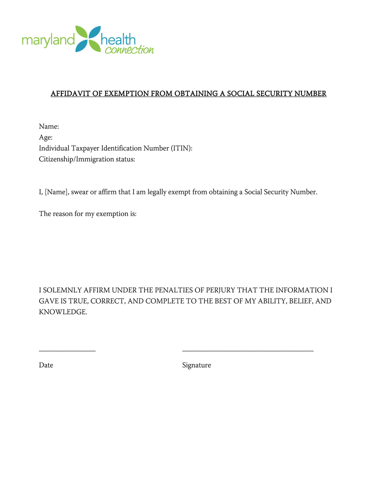 Affidavit Of No Income - Fill Online, Printable, Fillable ...