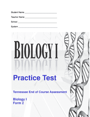 eoc biology tennessee form