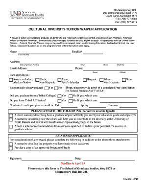 Sample Letter Of Recommendation For Graduate School. Cultural Diversity  Tuition Waiver Application   School Of Graduate