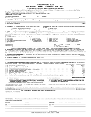 17 Printable standard employment contract Forms and