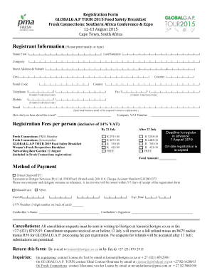 Indemnity Form Template South Africa. Registration Form   FC Southern  Africa 2015 NK Ec   GlobalGAP  Indemnity Form Template