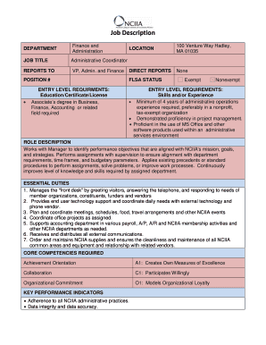 fillable administrative assistant personal statement examples edit