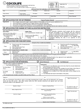 Fillable Online Application Form for Variable Life Insurance ... on life insurance forms printable, photography application forms, life insurance forms templates, property management application forms, life insurance application process, business insurance forms, medical application forms, construction application forms, life insurance forms blank, health insurance application forms, social security application forms, teacher job application forms, life insurance enrollment forms, life insurance forms online, 401k application forms, internet application forms, auto application forms, government application forms,