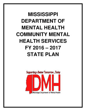 Fillable Online Dmh Ms Fy 2016 2017 Ms Dept Of Mental Health State