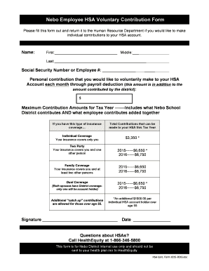 hsa payroll deduction form template nede whyanything co