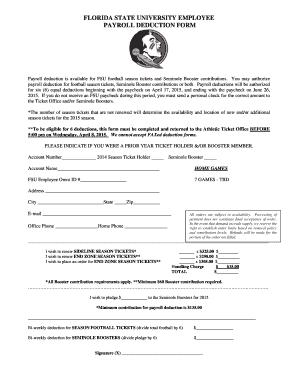 florida state university employee payroll deduction bformb