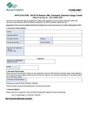 credit forms for customers