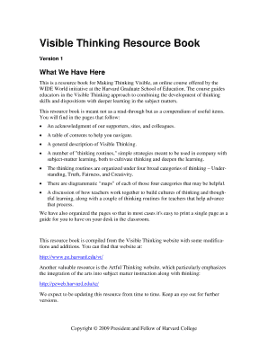 Fillable Online Visible Thinking Resource Guide Kentucky