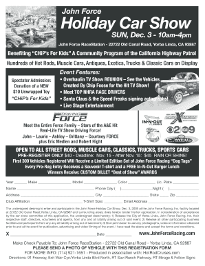 06 Holiday Car Show Flyer - John Force Racing