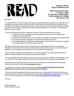 Fillable Online wpcbsa Meningitis Letter and Acknowledgement Form ...