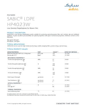 Sabic hdpe datasheet