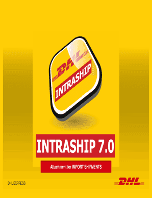 fillable online intraship 70 user guide import attachment dhl belgium fax email print pdffiller