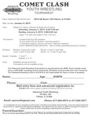 Printable basic high school wrestling moves - Edit, Fill Out