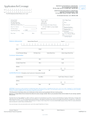 Honda Care Sample Contract Honda Care terms and conditions