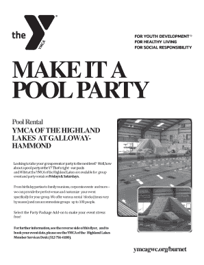 Pool Party Flyer - YMCA