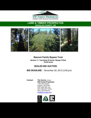 Fillable Online LAND amp TIMBER PROSPECTUS - Sperry Ridge Inc Fax