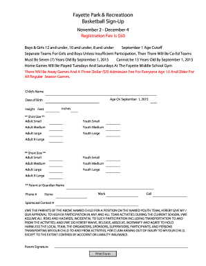Basketball Signup Sheet - fayetteal