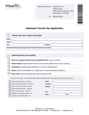 Indonesia Visa Application for Citizens of Sri Lanka