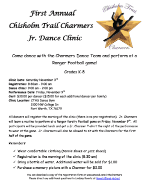 Fillable Online Emsisd Esc11 First Annual Chisholm Trail Charmers Jr Dance Clinic Emsisd Esc11 Fax Email Print Pdffiller View the latest chisholm trail 8 movie times, box office information, and purchase tickets online. fillable online emsisd esc11 first