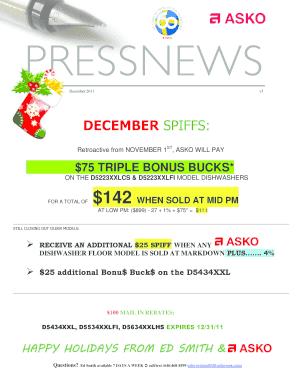 fillable online december spiffs p c richard son fax email rh pdffiller com