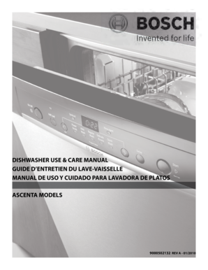 fillable online dishwasher use amp care manual guide d39entretien du lave vaisselle bb fax email. Black Bedroom Furniture Sets. Home Design Ideas