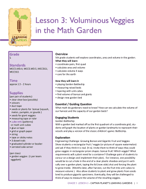 Voluminous Veggies in the Math Garden - Captain Planet Foundation